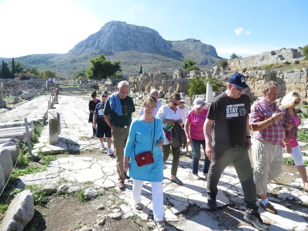 Korinton antiikin kaupungin pääkatus.